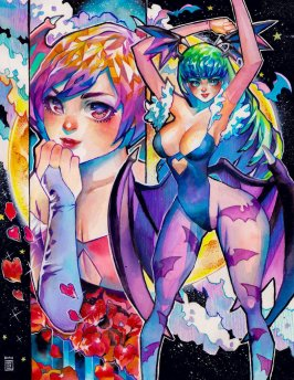 Capcom Fighting Tribute Entry: Morrigan and Lilith