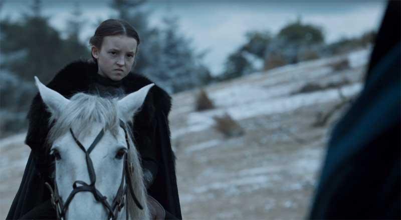 "Bella Ramsey as Lyanna Mormont, ""Battle of the Bastards"""