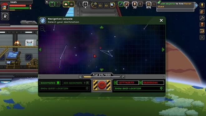 Starbound Star Map