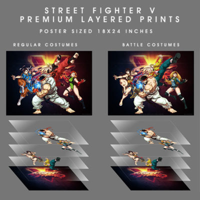 UDON Street Fighter Layer Poster