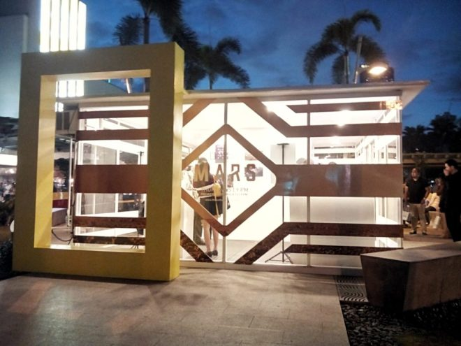 "The entrance of the ""MARS"" booth at Bonifacio Global City."
