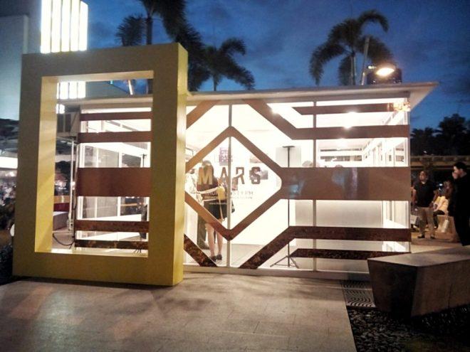 "The entrance of the ""MARS"" booth at Bonifacio Global City."