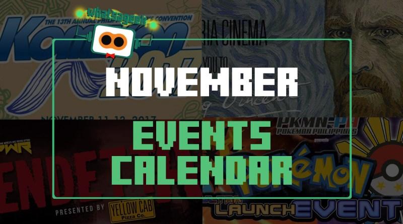 November 2017 Events
