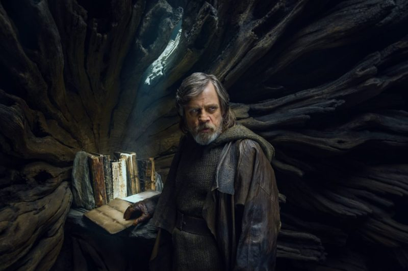 Mark Hamill is Luke Skywalker in Star Wars: The Last Jedi