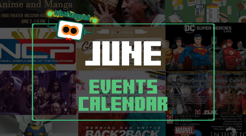 June 2018 Events and Happenings
