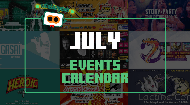 July 2018 Events and Happenings Calendar