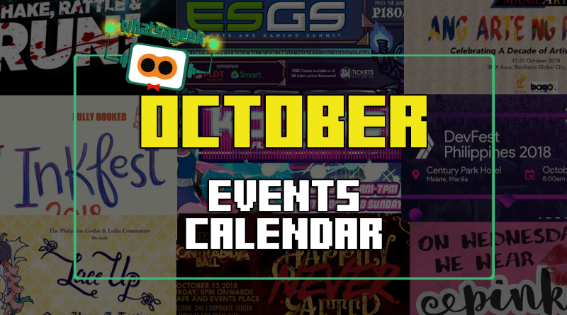 October 2018 Events and Happenings