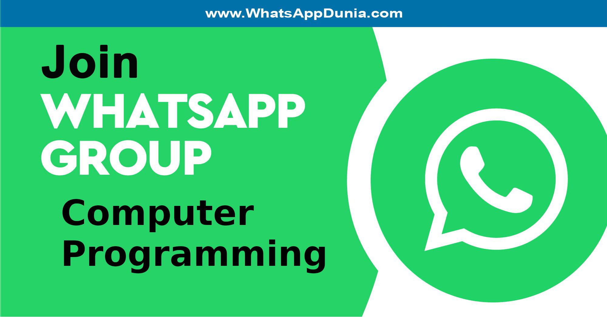 Computer Programming WhatsApp Group Links