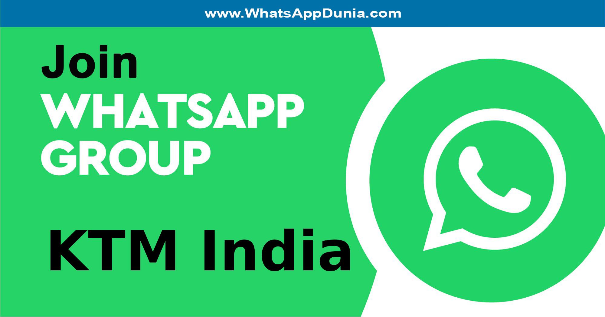 KTM India WhatsApp Group Links