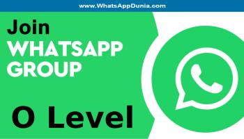 O Level WhatsApp Group Links