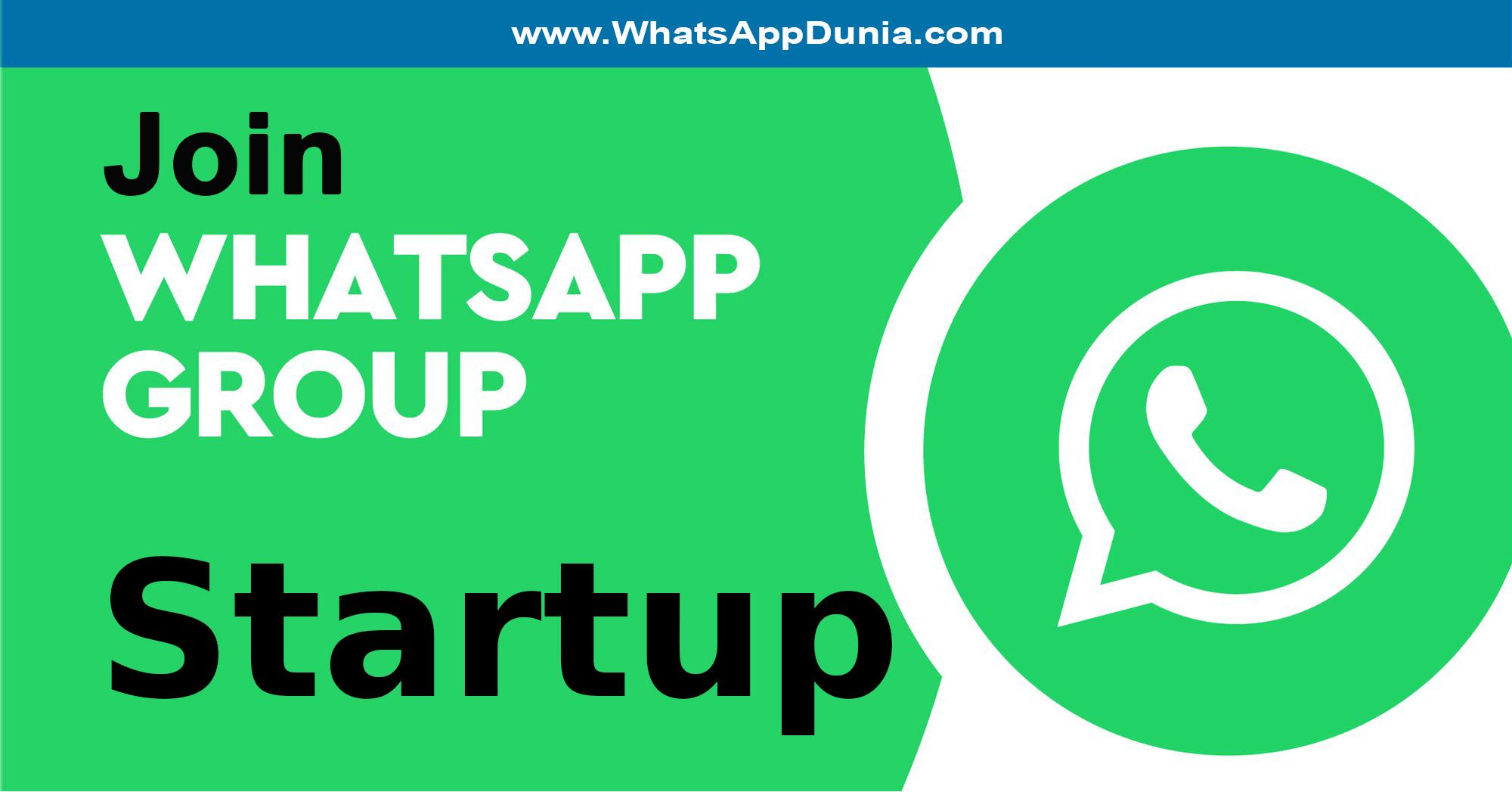 Startup WhatsApp Group Links
