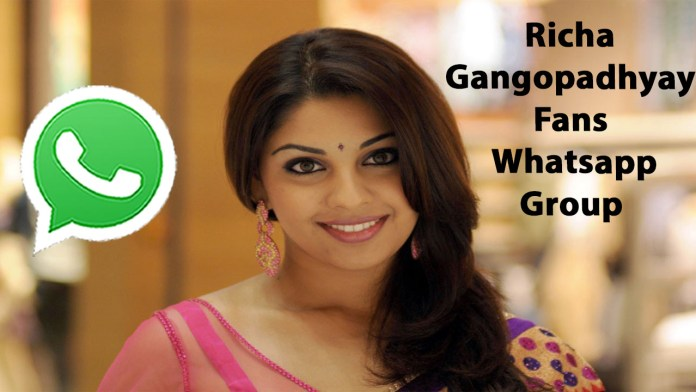 Richa Gangopadhyay Fans Whatsapp Group Link