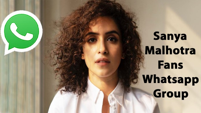 Sanya Malhotra Fans Whatsapp Group Link