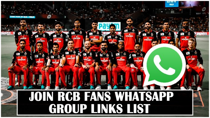 RCB Fans Whatsapp Group Links
