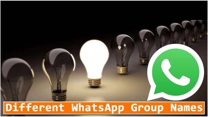 Different WhatsApp Group Names