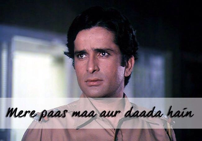 Proud moment for Shashi Kapoor on Mother's Day !!   Mere pass Maa hai..