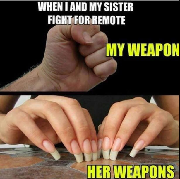 Weapon Brother vs Sister  raltionship messages cool rakhi whatsapp funny pictures