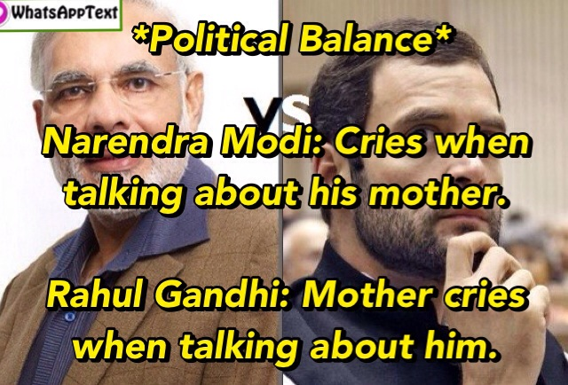 Political crying : Narendra Modi vs Rahul Gandhi !!