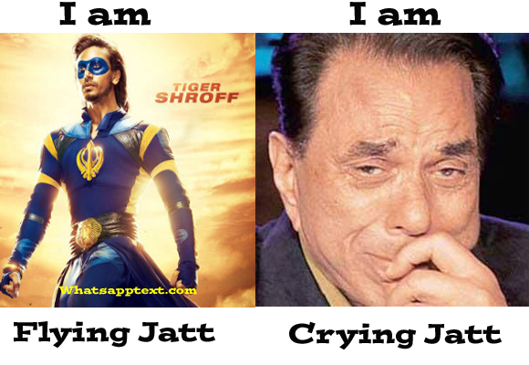 Flying jatt jokes and troll meme