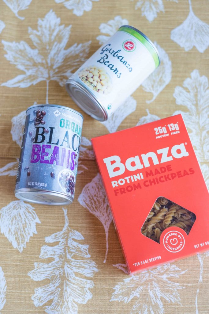 What To Keep In Your Pantry For Last Minute Meals #whatsavvysaid #wellness #pantryessentials #kitchenessentials #plantbaseddiet #plantbasedlifestyle #chickpeapasta #pancakemix