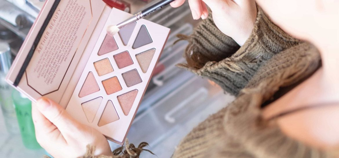 Rose Quartz Crystal Gemstone Palette by Aether Beauty #19