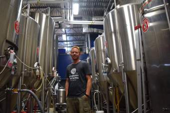 Ross Thompson and his fermenters