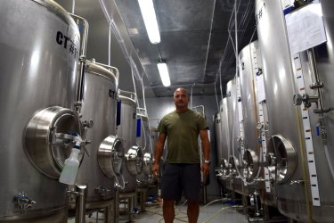 Owner Daryl Leiski in the brewhouse