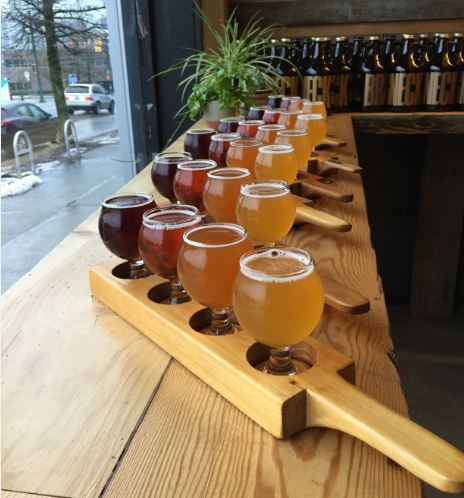 Vancouver Brewery Tours Beer Samples