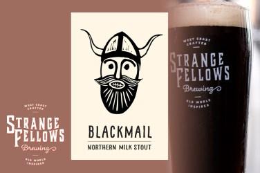 Strange Fellows Blackmail Milk Stout 4.5%