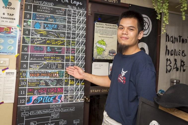 Craft Beer Board At Namton's House Bar (Chiang Mai)