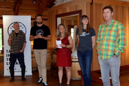 Management team members introducing the first annual Fort Langley Beer & Food Festival