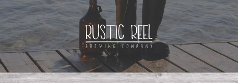 RusticReel Brewery Fishing Camping Dock Boots Logo Wood Footer 3