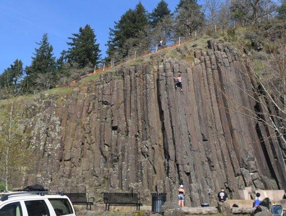 Rock climbing at The Columns