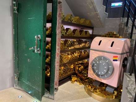 Bank vault decor in converted Taipei boutique hotel