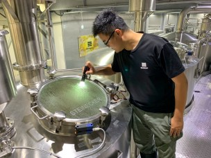 Ching-Hua Mao checks the boil at Sunmai