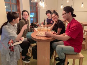 Evening get together in a Taipei Tap house