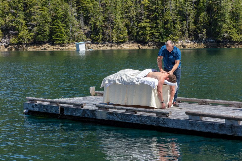 Massage on the dock