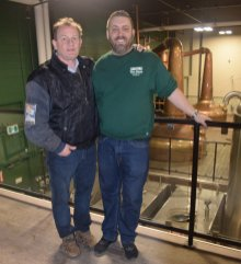 Keith Fair, resident Boiler Engineer, and Lee Baker, Visitor Centre Manager