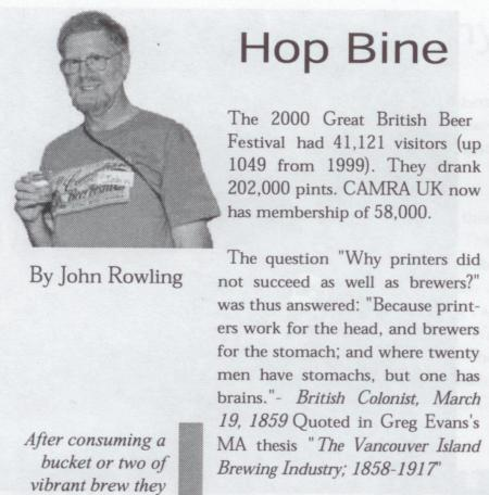 What's Brewing Jan/Feb 2001