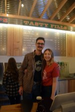 Friendly staff at Farm Country Brewing on opening day