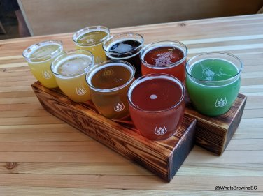 Taking fligh: a rainbow of beers at The Barley Merchant
