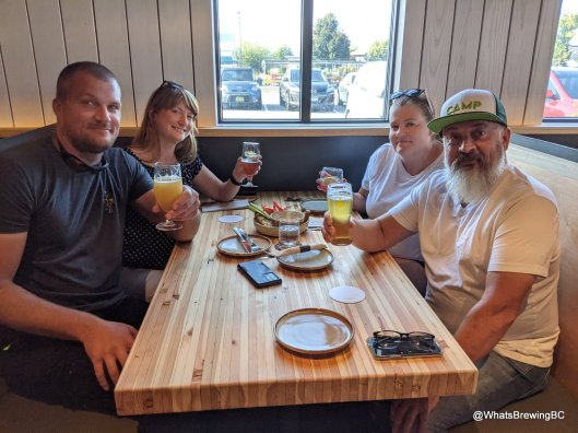 The Camp Beer folks drop in on soft opening night