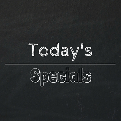 Daily Specials 9/18/2020