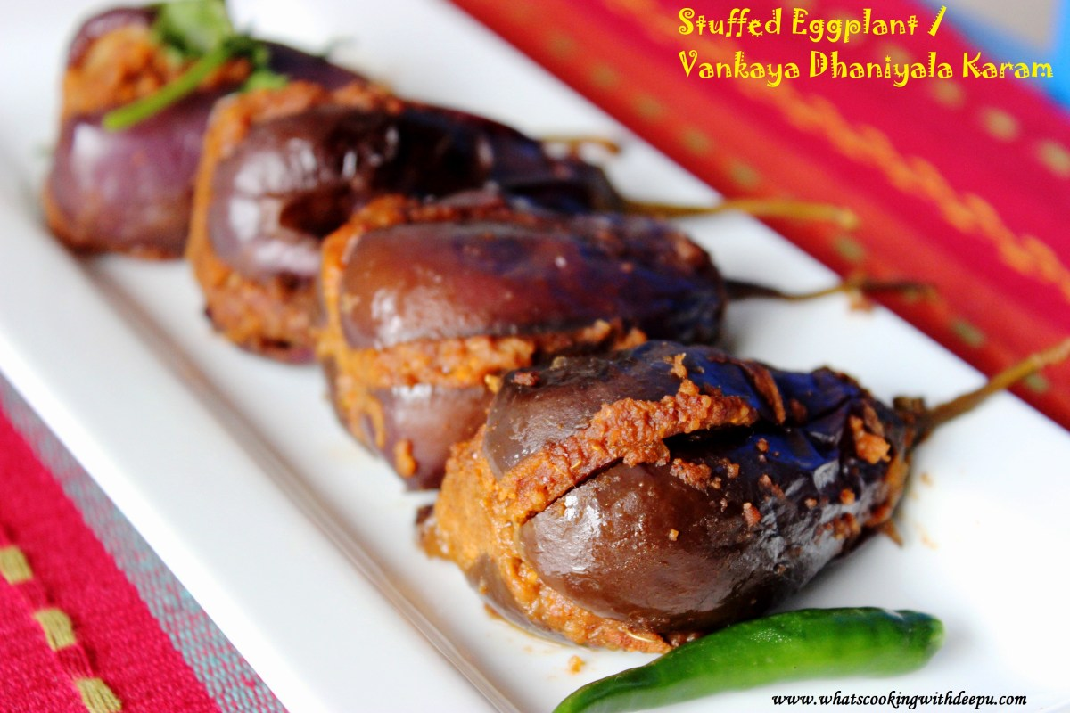 Stuffed Eggplant / Vankaya Dhaniyala Karam