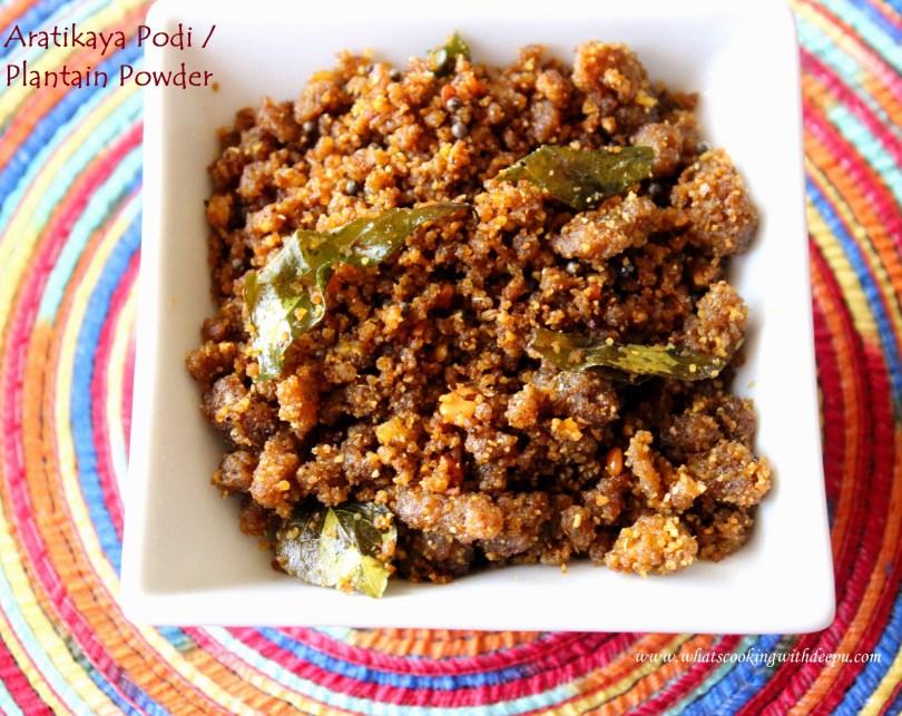 Aratikaya Podi / Plantain Powder