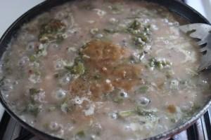 Yam and Malabar Spinach Curry / Kanda Bachali Koora