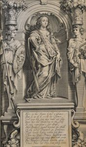 Funerary statue of Margaret Cavendish from her book.