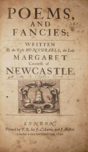 Title page of Poems and Fancies by Margaret Cavendish, Duchess of Newcastle