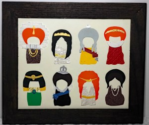 Paper portraits of Queens by Paper People Portraits