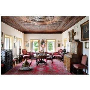 An elegant 18th century room with period furnishings.